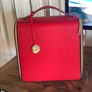Estée Lauder Red Cosmetic Bag/Train Case Brand New
